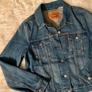 Vintage Levi's Denim Trucker Jacket Size Large